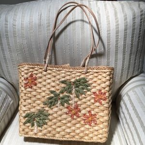 Authentic Kulanuii Hawaiian straw bag
